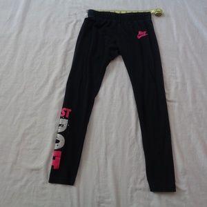 Nike Just Do it Girls Medium Yoga Leggings
